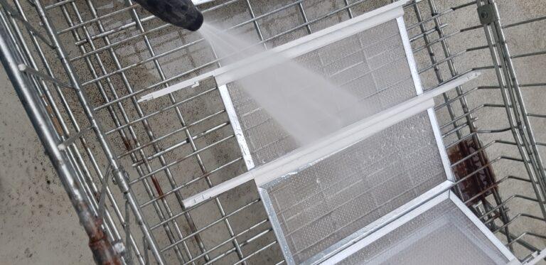Lavaggio filtro ad alta pressione
